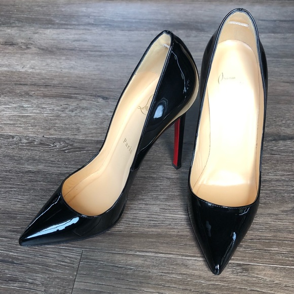separation shoes 83a36 ef0a1 Christian Louboutin Black Patent Pigalle 120
